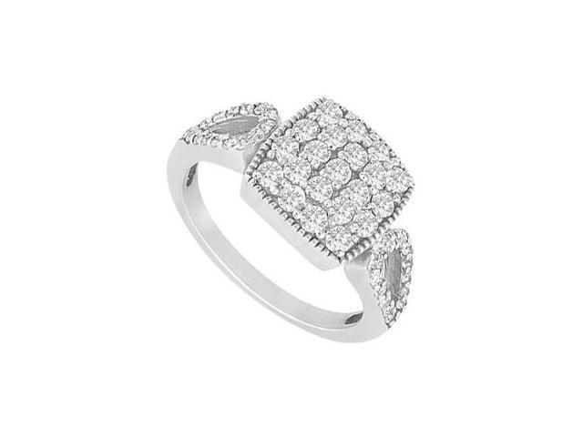 Diamond Ring  14K White Gold - 0.75 CT diamonds