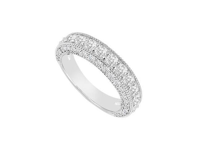 14K White Gold  Diamond Wedding Band 1.50 CT TDW