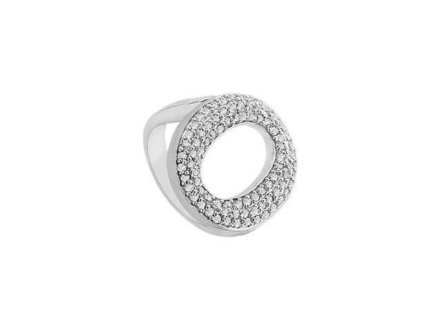 Diamond O Ring  14K White Gold - 0.50 CT Diamonds