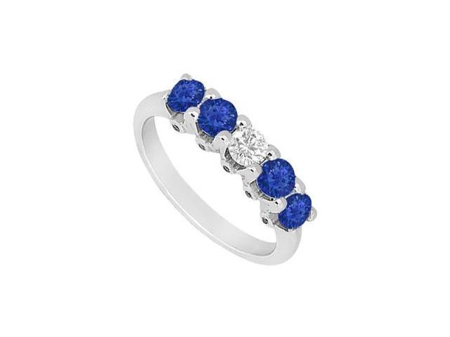 Sapphire and Diamond Ring  14K White Gold - 1.55 CT TGW