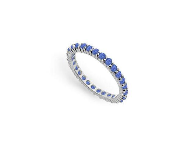 Diffuse Sapphire Eternity Band 925 Sterling Silver 1.00 Carat Total Gem Weight