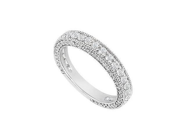 Diamond Wedding Band  14K White Gold 1.00 CT Diamonds