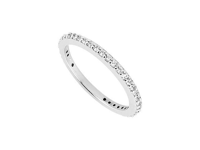 Diamond Prong Set Eternity Wedding Band  14K White Gold 0.40 CT TDW