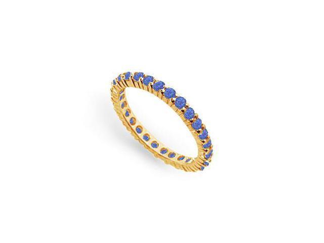 Blue Sapphire Eternity Band  14K Yellow Gold  1.00 CT TGW