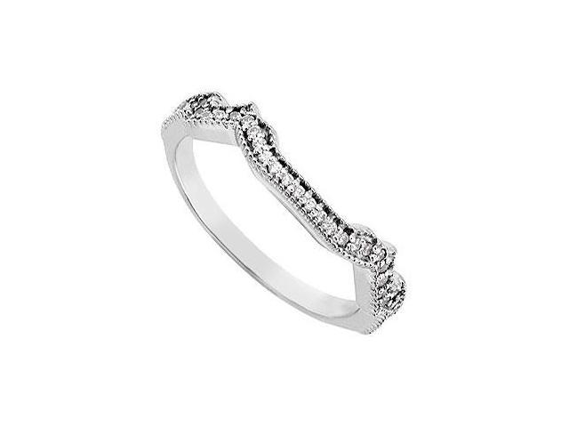 Diamond Wedding Band  14K White Gold 0.20 CT Diamonds