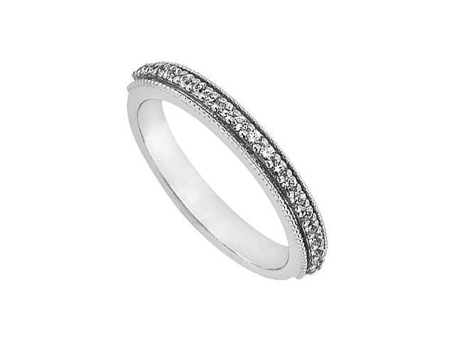 April Birthstone Diamond Wedding Band in 14K White Gold 0.25 CT TDW