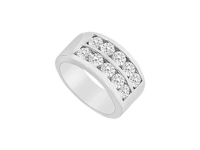 Diamond Row Ring  14K White Gold - 2.00 CT Diamonds