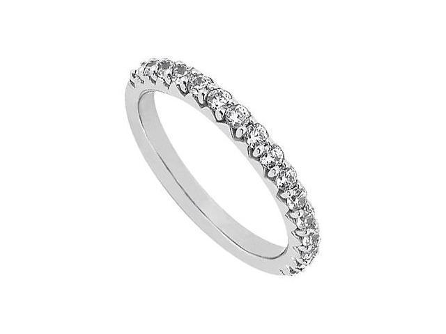 April Birthstone Diamond Wedding Band in 14K White Gold 0.50 CT TDW