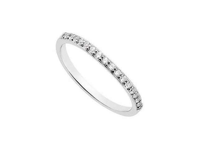 Diamond Wedding Band  14K White Gold 0.15 CT Diamonds