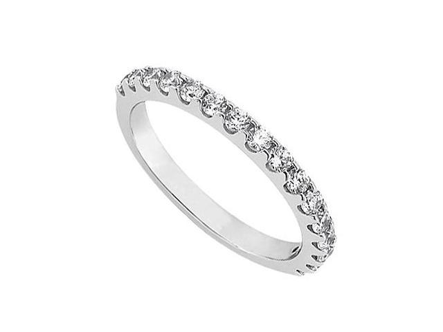 April Birthstone Diamond Wedding Band in 14K White Gold 1.00 CT TDW