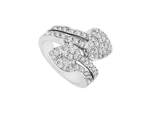 Diamond Heart Ring  14K White Gold - 2.00 CT Diamonds