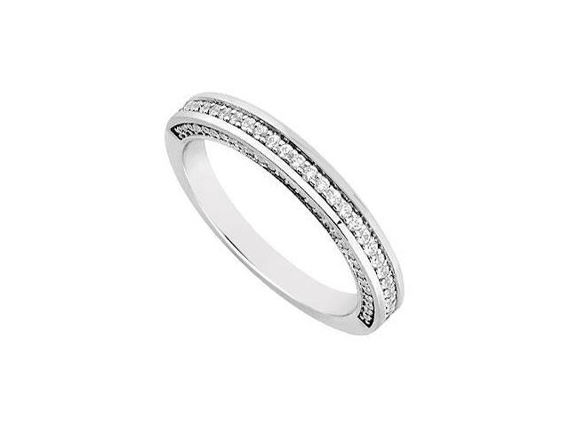Diamond Wedding Band  14K White Gold 0.30 CT Diamonds