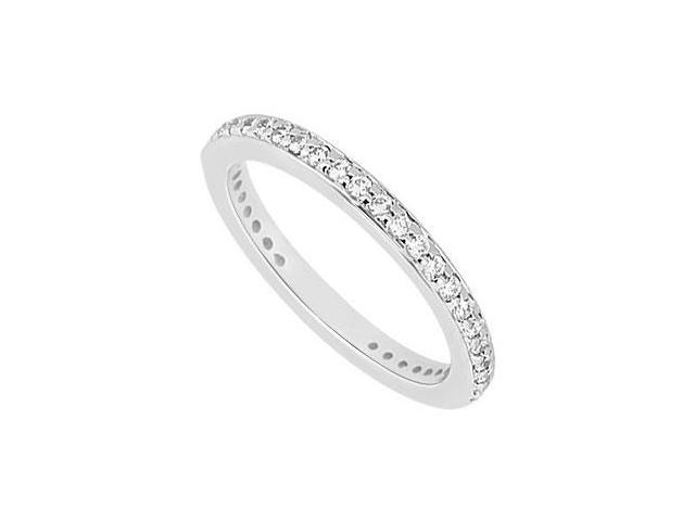Diamond Wedding Band  14K White Gold 0.40 CT Diamonds