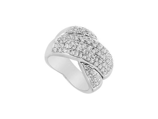 Diamond Crossover Ring  14K White Gold - 2.00 CT Diamonds