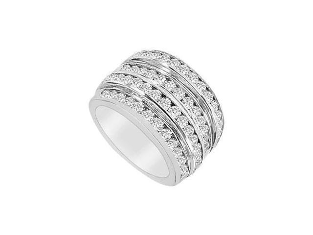 Diamond Row Ring  14K White Gold - 2.00 CT Diamonds