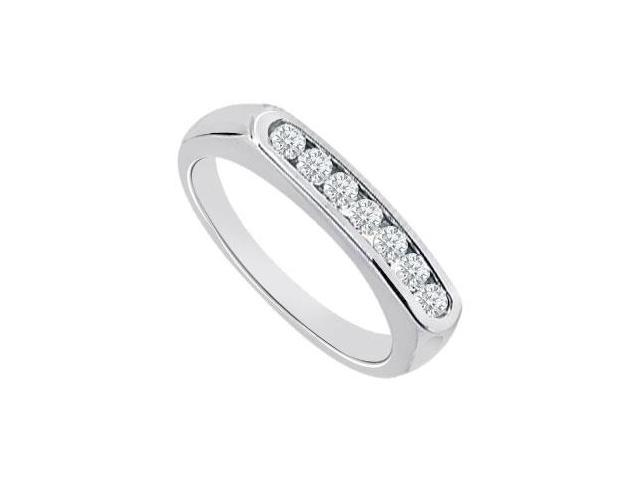 Diamond Channel Set Wedding Band 14K White Gold 0.25 CT Diamonds