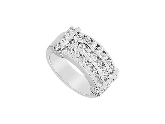 Diamond Row Ring  14K White Gold - 1.50 CT Diamonds