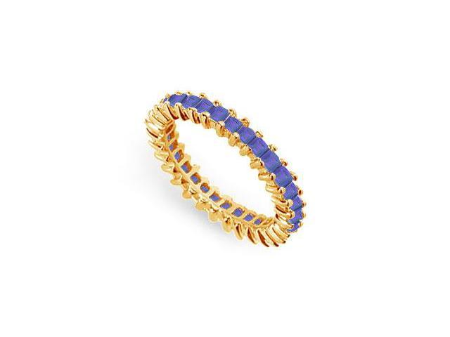 Blue Sapphire Eternity Band  14K Yellow Gold  2.00 CT TGW