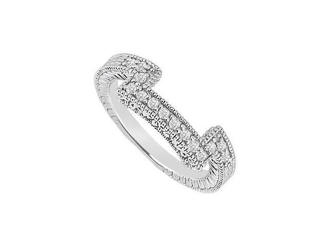 Diamond Prong Set Wedding Band 14K White Gold 0.25 CT Diamonds