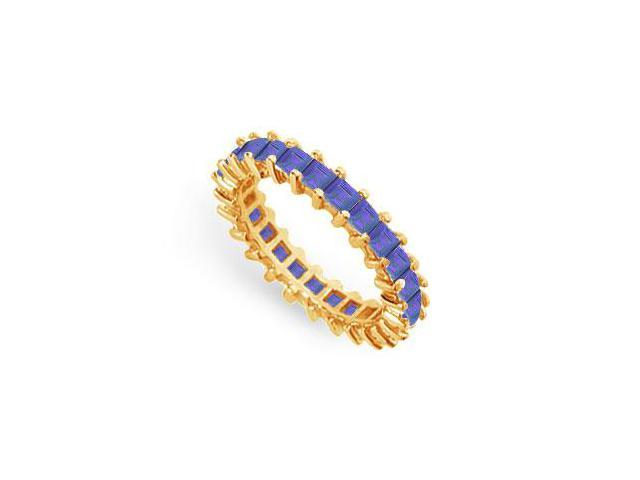 Blue Sapphire Eternity Band  14K Yellow Gold  3.00 CT TGW