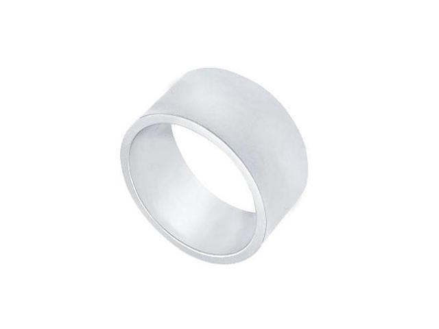 Platinum 10MM Comfort Fit Flat Wedding Band