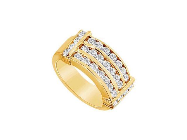 Diamond Row Ring  14K Yellow Gold - 1.50 CT Diamonds