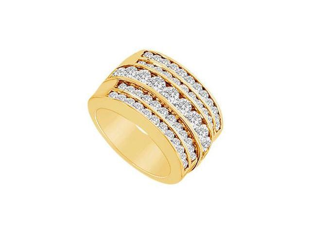 Diamond Row Ring  14K Yellow Gold - 2.00 CT Diamonds