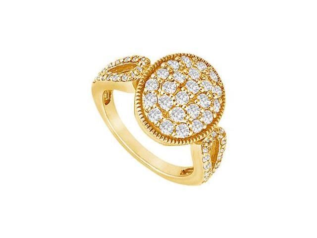 Diamond Circle Ring  14K Yellow Gold - 1.00 CT Diamonds