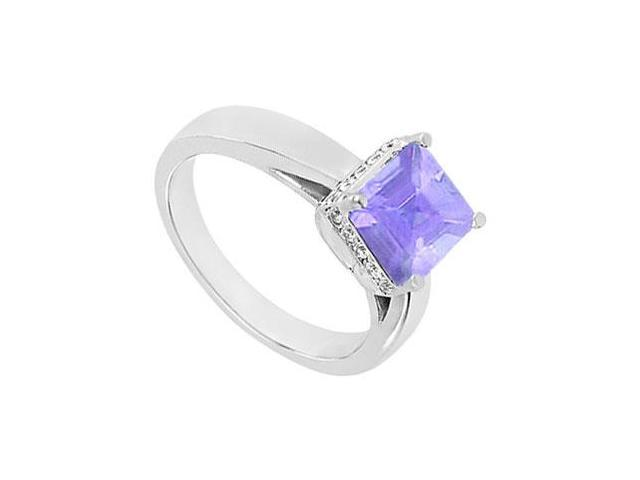 Tanzanite and Diamond Ring  14K White Gold - 1.00 CT TGW