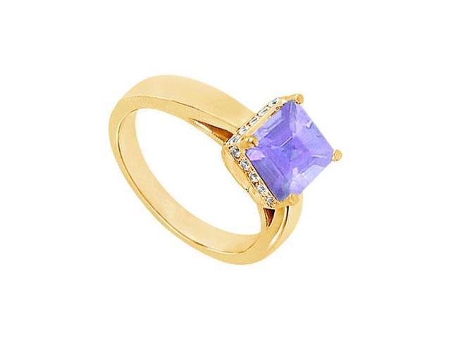 Tanzanite and Diamond Ring  14K Yellow Gold - 1.00 CT TGW