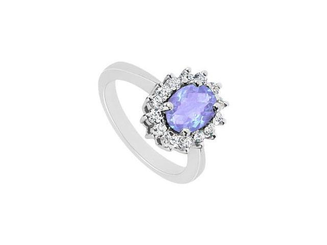 Tanzanite and Diamond Ring  14K White Gold - 1.50 CT TGW