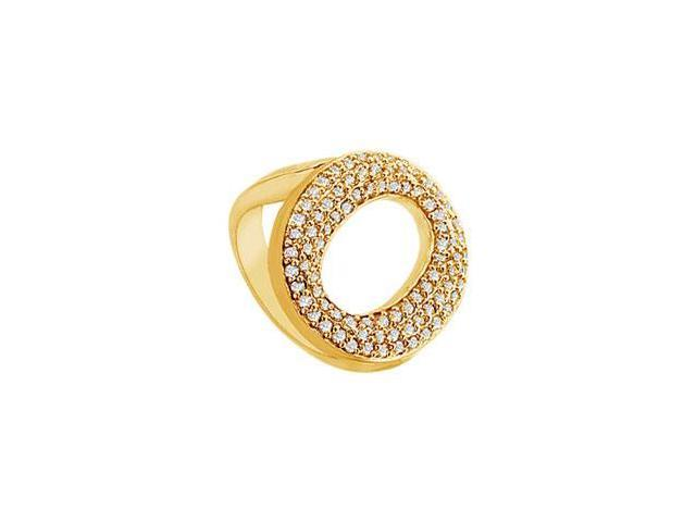 Diamond O Ring  14K Yellow Gold - 0.50 CT Diamonds