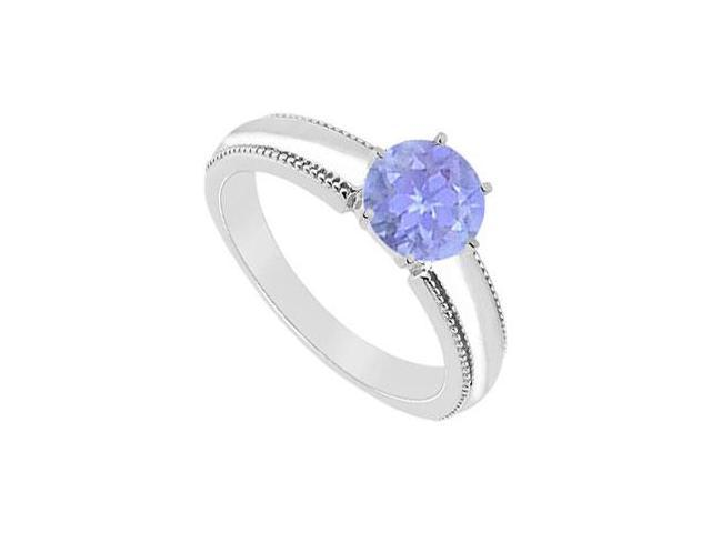 Tanzanite Ring  14K White Gold - 1.00 CT TGW