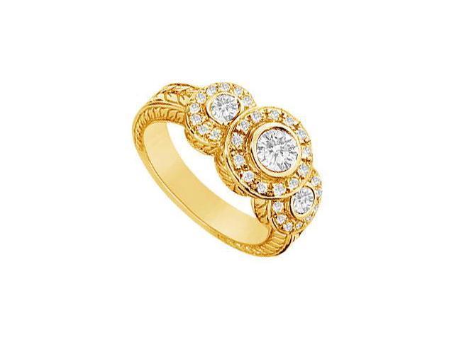 Diamond Ring  14K Yellow Gold - 0.75 CT Diamonds
