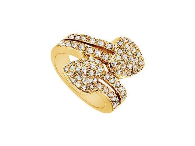 Diamond Heart Ring  14K Yellow Gold - 2.00 CT Diamonds