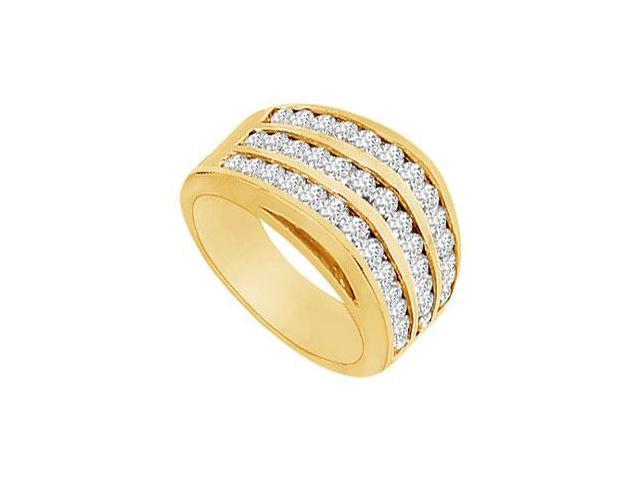 Diamond Row Ring  14K Yellow Gold - 1.50 CT Diamonds