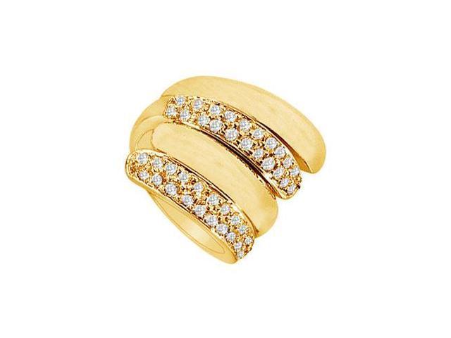 Diamond By-pass Ring  14K Yellow Gold - 1.00 CT Diamonds