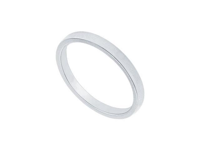 Platinum 2MM Flat Non-Comfort Fit Wedding Band