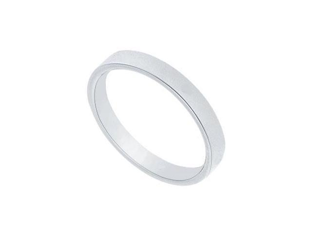 Platinum 2.5MM Flat Non-Comfort Fit Wedding Band