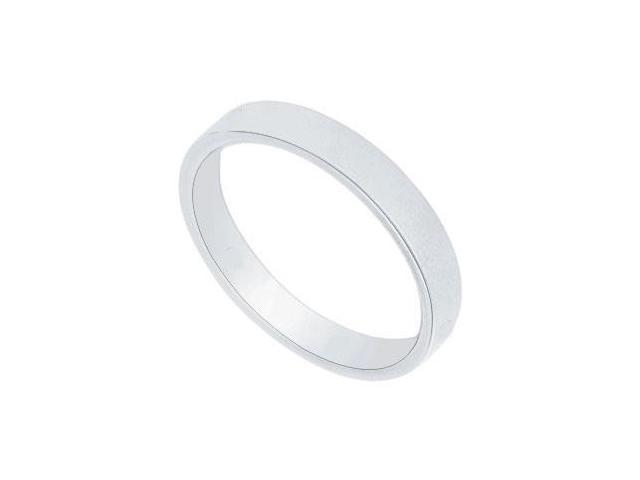 Platinum 3MM Flat Non-Comfort Fit Wedding Band