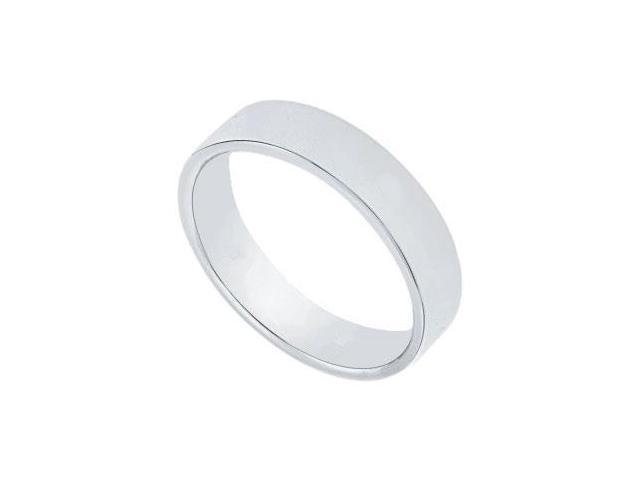 Platinum 4MM Flat Non-Comfort Fit Wedding Band