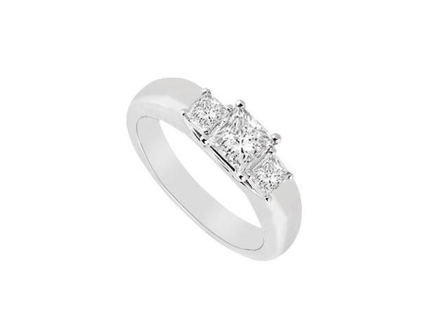 Three Stone Diamond Ring  14K White Gold - 0.25 CT Diamonds