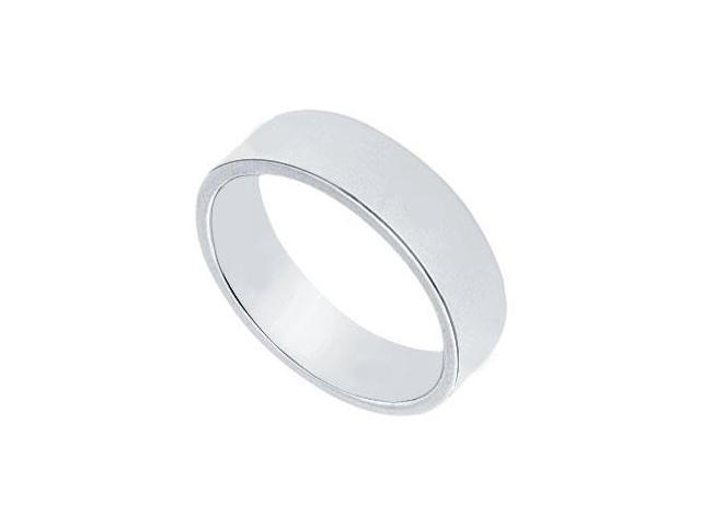 Platinum 5MM Flat Non-Comfort Fit Wedding Band