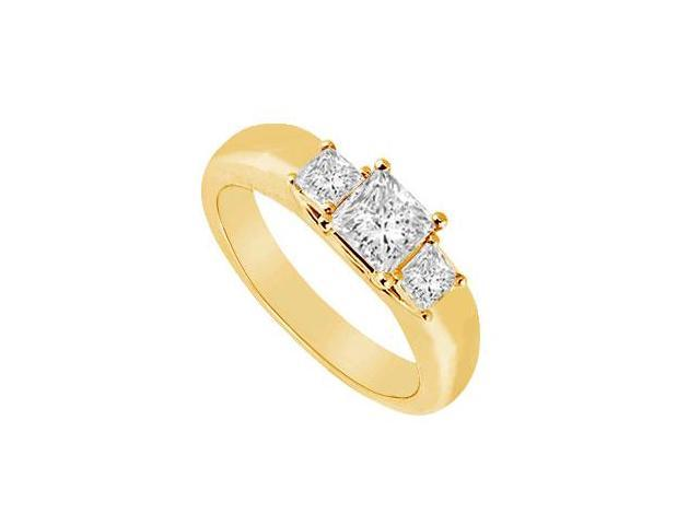Three Stone Diamond Ring  14K Yellow Gold - 0.25 CT Diamonds