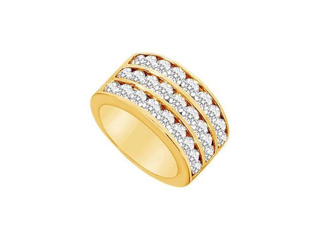 Diamond Row Ring  14K Yellow Gold - 2.50 CT Diamonds