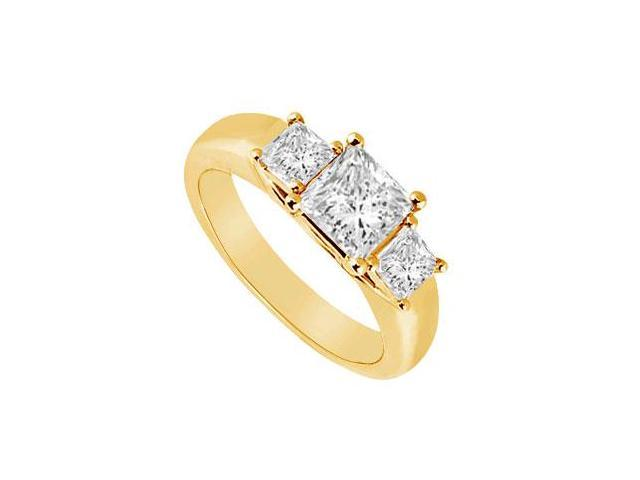 Three Stone Diamond Ring  14K Yellow Gold - 0.50 CT Diamonds