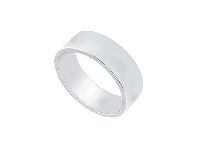 Platinum 6MM Flat Non-Comfort Fit Wedding Band