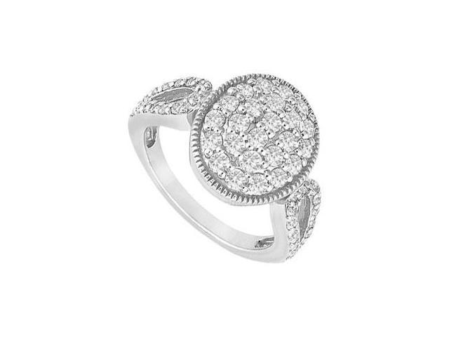 Diamond Circle Ring  14K White Gold - 1.00 CT Diamonds