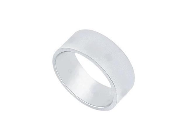 Platinum 7MM Flat Non-Comfort Fit Wedding Band