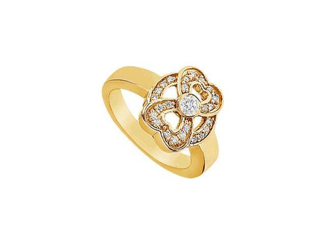 Heart Diamond Ring  14K Yellow Gold - 0.33 CT Diamonds